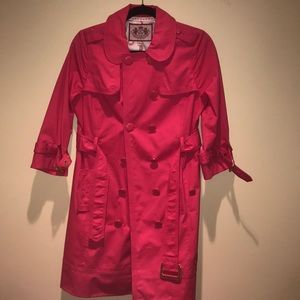 Juicy Couture Pink Trench coat size M